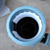 Пластиковый соединитель труб, фитинг 90
