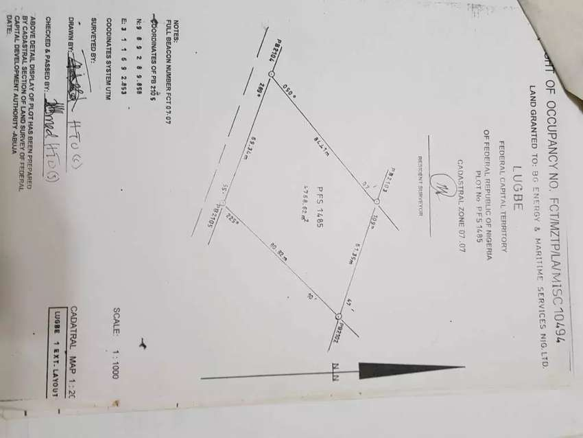 A Residential Plot of 1,700m² with C of O at Kuje, Abuja 0