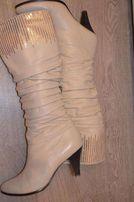 Зимние женские сапоги сапожки кожа/цигейка р. 40, 26 см.