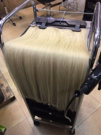 Волос на заколках. Натуральные волосы тресс.