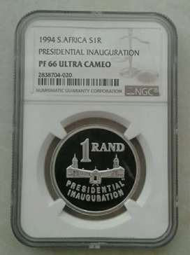 Rare 1994 Inauguration proof silver R1 NGC PF66 UC (low mintage)