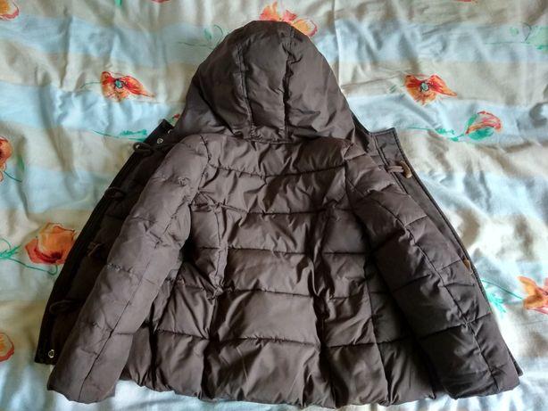 Zimowa kurtka ocieplana brązowa BENETTON 98-110 Łódź - image 7