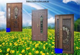 двери металлические входные со стеклом и ковкой двері вхідні металеві