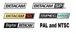 Оцифровка Digital Betacam, Betacam SX, Betacam SP, Betacam