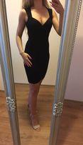 Mała czarna sukienka 36 S 34 xs Sylwester Studniówka