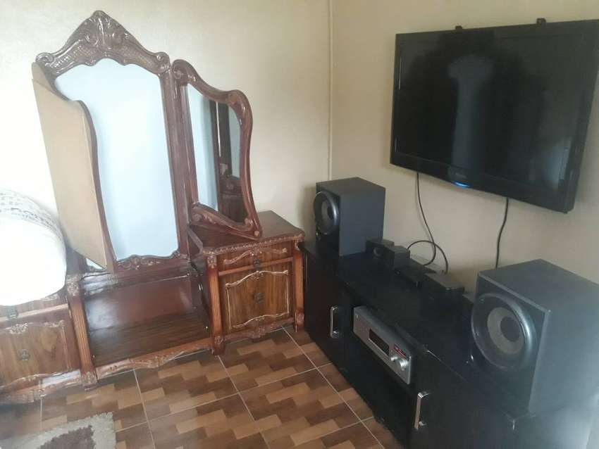 Furnished room available for rent.