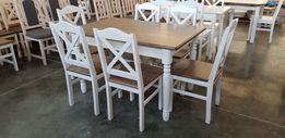 Krzesło krzesła prowansalskie Krzyż białe twarde nowe Producent modne