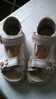 Sandalki dziewczece r 23 bialo rozowe skorzane