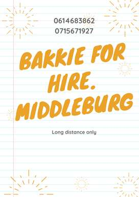 Bakkie for hire Middleburg