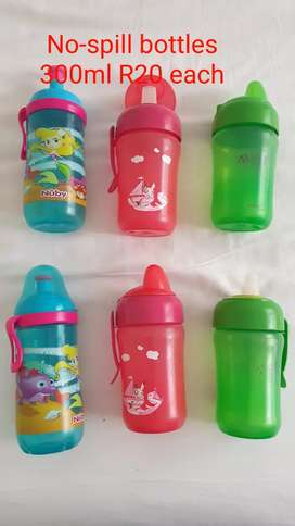 2nd Hand no-spill drinking bottles Avent / Nuby R20 each