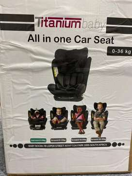 Titanium baby All in one Car Seat 0-36kg