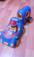 Машинка инерционная TOLO, машина с прицепом и мальчиком