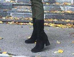 Осенние сапожки на каблуке Dune London