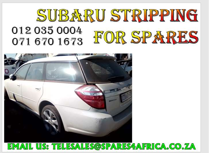 Subaru stripping for spares 0