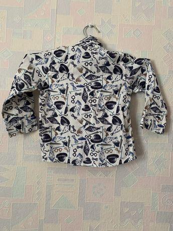 Стильная рубашка для мальчика 1-2 года. Идеальное состояние 300 руб Макеевка - изображение 2