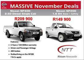 2019 Nissan NP200 1.6 Base + Safety Brand new with R33,600.00 discount