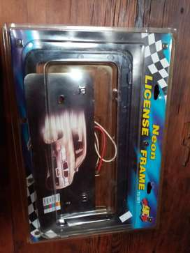 Neon Number Plate light