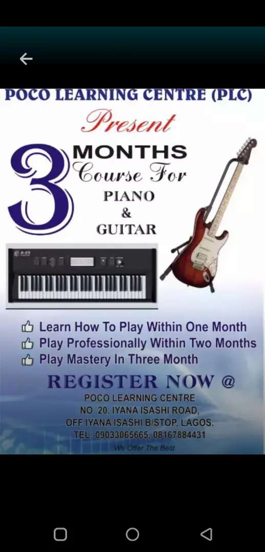 Keyboard and guitar lessons 0