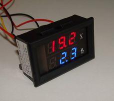 0-100V DC Вольтметр 0-10A Амперметр DSN-VC288
