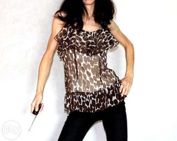 Elegancka bluzka falbanki s 36