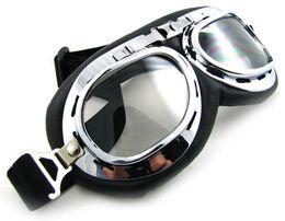 Retro gogle okulary motor Wsk Wfm Shl Jawa Junak Awo Bobber Cafe Racer