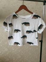 Продам короткую женскую футболку River Island