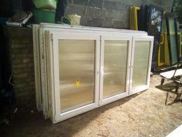 Okno PCV 260 cm szerokości x 130 cm wysokości