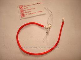 Серебро. Красная шелковая нить на запястье с серебряными замками 13-21