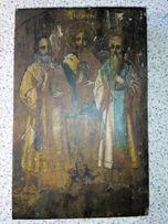 икона Великие святители Василий Великий, Григорий Богослов и Иоанн Зла