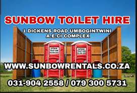 Sunbow rentals sunbow toilet hire