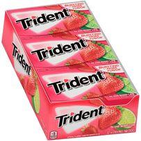 Trident.Трайдент.пластинки.жевательная.резинка.без сахара.жвачка опт