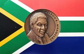 Mandela FNB 1994 Inauguration Bronze Medallion With certificate