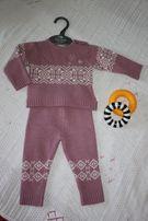 Костюм (кофта, штаны) детский теплый шерстяной