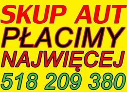 AUTO SKUP za gotówkę PŁACĘ NAJWIĘCEJ w Małopolsce! SKUP AUT Samochodów