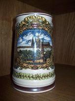 Duży ceramiczny kufel na piwo prosto z Pragi! NOWY!
