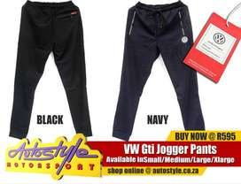 VW Gti, Volkswagen official licensed products, jogger pants and active