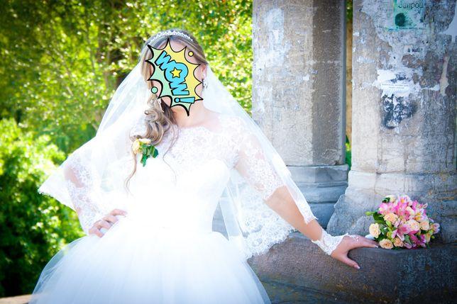 Весільне плаття ,гарне, стильне шампань не дорого ідеальний стан Тернополь - изображение 1