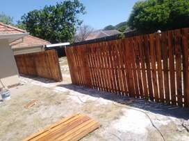 WOODEN FENCING AND CLEARVIEW FENCING