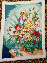Вышитая картина Букет цветов