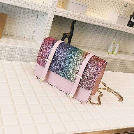 Sequins handbags available in silver and pink 0