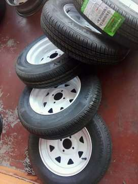Trailer rims with tyres size 14