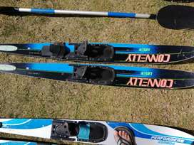Water ski's and rowing oars