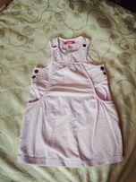 Красивый костюм вещи девочке вельветовый сарафан кофточка колготки 104