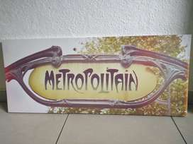 Canvas print of Metropolitain sign from Typo