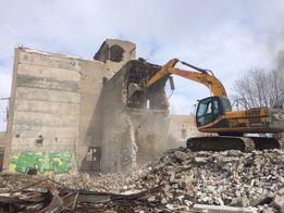 Демонтаж зданий, промышленных сооружений, аварийных объектов
