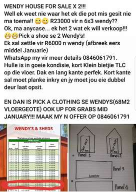 6x3 wendy house x 2 for sale