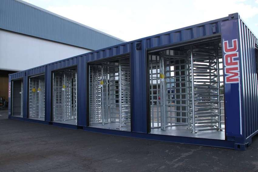 40ft Access Security Containers Turnstile 0