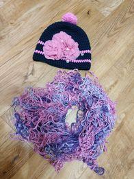 Комплект Шапка шафр детская цвет пыльная роза