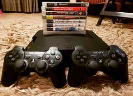 PS3 SLIM GAMING PACKAGE  - CONSOLE + CONTROLLES + 8 GAMES - ONLY R2380