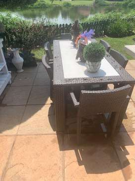 6 seater weave patio
